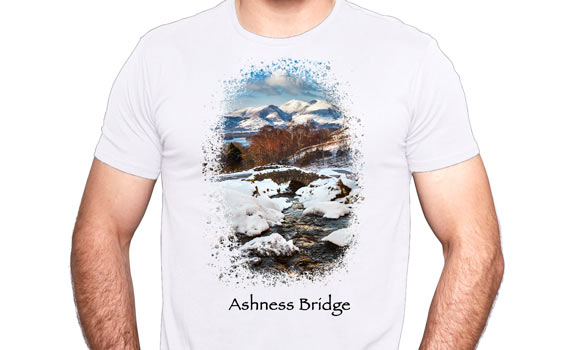 Ashness bridge on a T shirt
