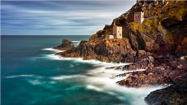 Botallack Mines in the Autumn Sunshine - Canvas Print