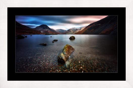 Wast Water Rock - Framed Print with Mount