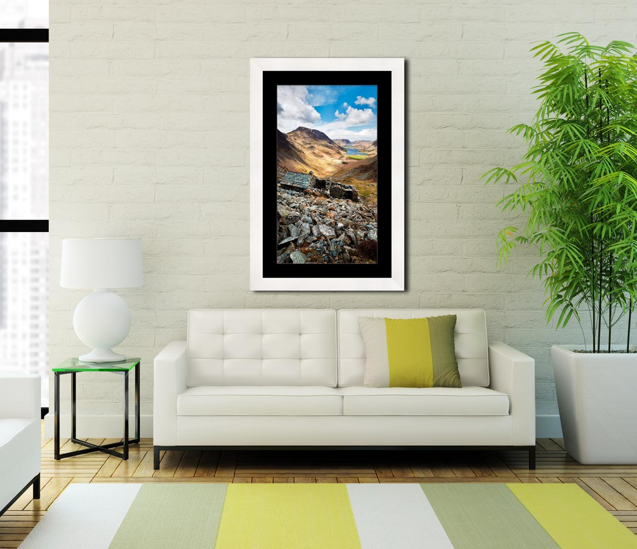 Warnscale Bothy Above Buttermere - Framed Print with Mount on Wall