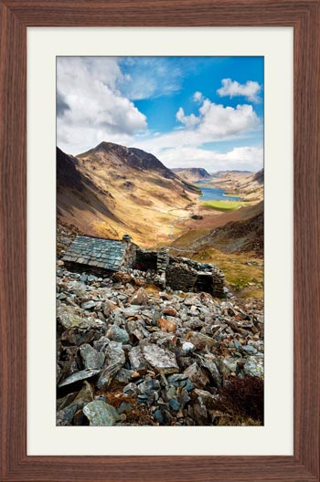 Warnscale Bothy Above Buttermere - Framed Print with Mount