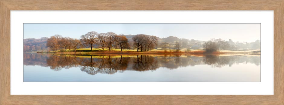 Misty Morning at Esthwaite Water - Framed Print with Mount