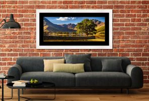 The Buttermere Oak Tree - Framed Print with Mount on Wall