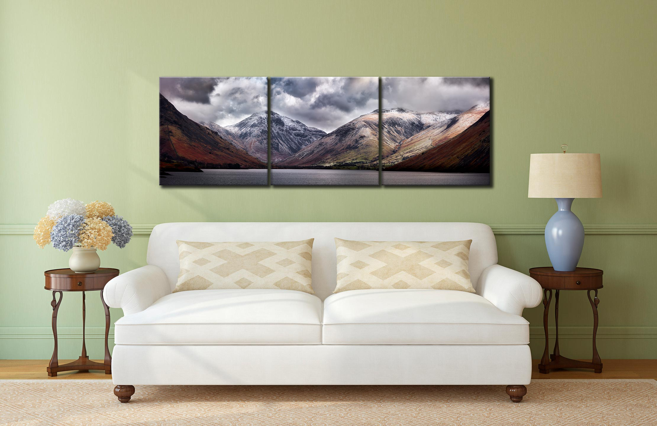Great Gable and Lingmell - 3 Panel Canvas on Wall