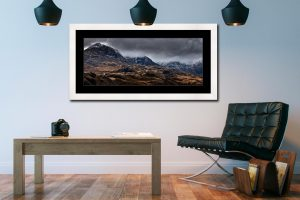 Scafell Mountains from Hardknott - Framed Print with Mount on Wall