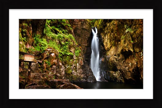 Stanley Ghyll Force Gorge - Framed Print with Mount