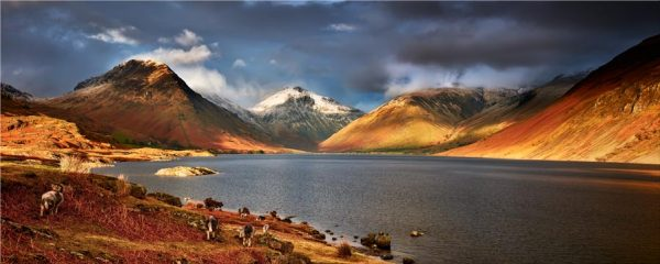 Warm Sunlight on Wasdale Head - Canvas Print