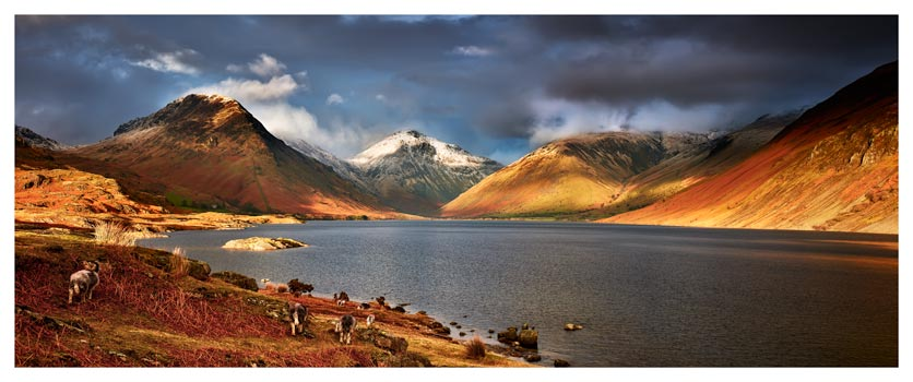 Warm Sunlight on Wasdale Head - Lake District Print