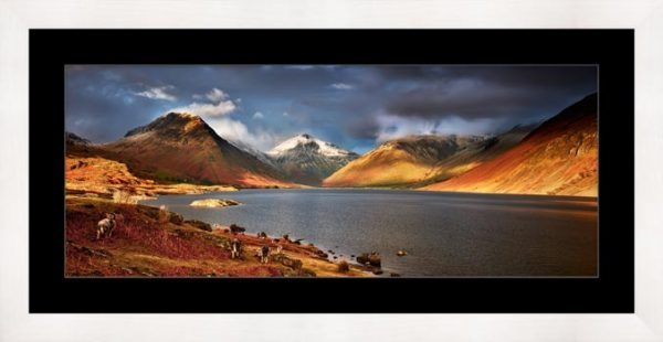 Warm Sunlight on Wasdale Head - Framed Print with Mount