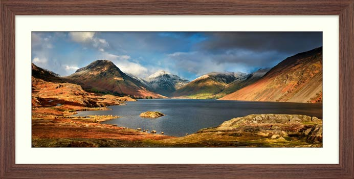 Wast Water Sunlight - Framed Print with Mount