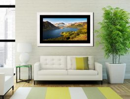 Spring at Ullswater - Framed Print with Mount on Wall