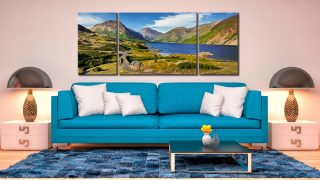 Summer at Wast Water - 3 Panel Wide Mid Canvas on Wall