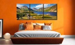 Summer at Wast Water - 3 Panel Canvas on Wall