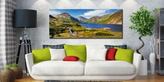 Summer at Wast Water - Canvas Print on Wall