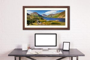 Summer at Wast Water - Framed Print with Mount on Wall