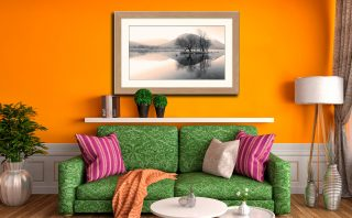 Morning Mists at Brothers Water - Framed Print with Mount on Wall