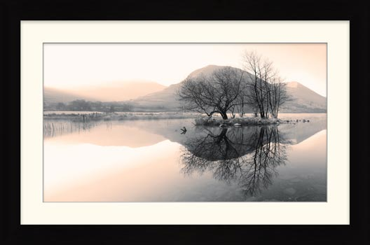 Morning Mists at Brothers Water - Framed Print with Mount