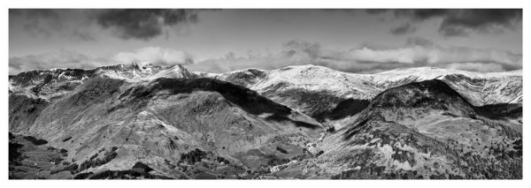 Glenridding Mountains Panorama - Prints of the Lake District