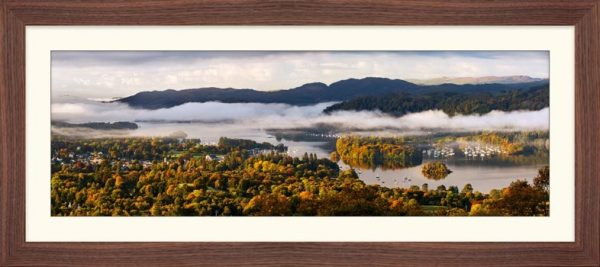 Windermere Morning Mists - Framed Print with Mount