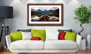 Buttermere Rocks - Framed Print with Mount on Wall