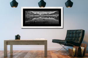 Serenity of Blea Tarn - Framed Print with Mount on Wall