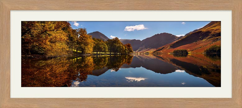 Buttermere Autumn Trees - Framed Print with Mount