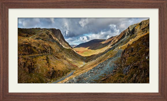 The Honister Pass - Framed Print with Mount
