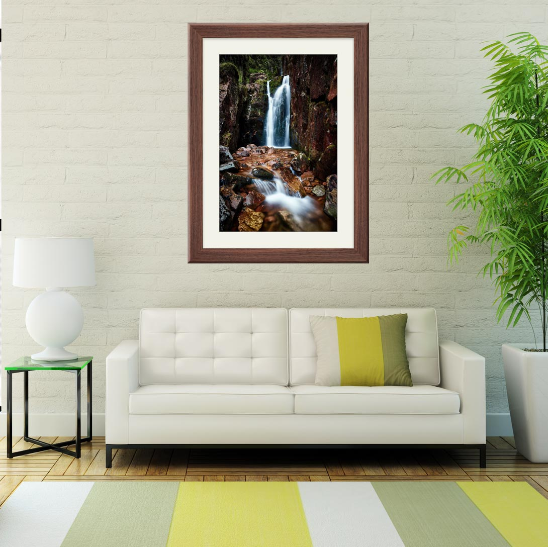Scale Force Gorge - Framed Print with Mount on Wall