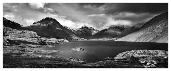 Wast Water Sunlight - Black White Print