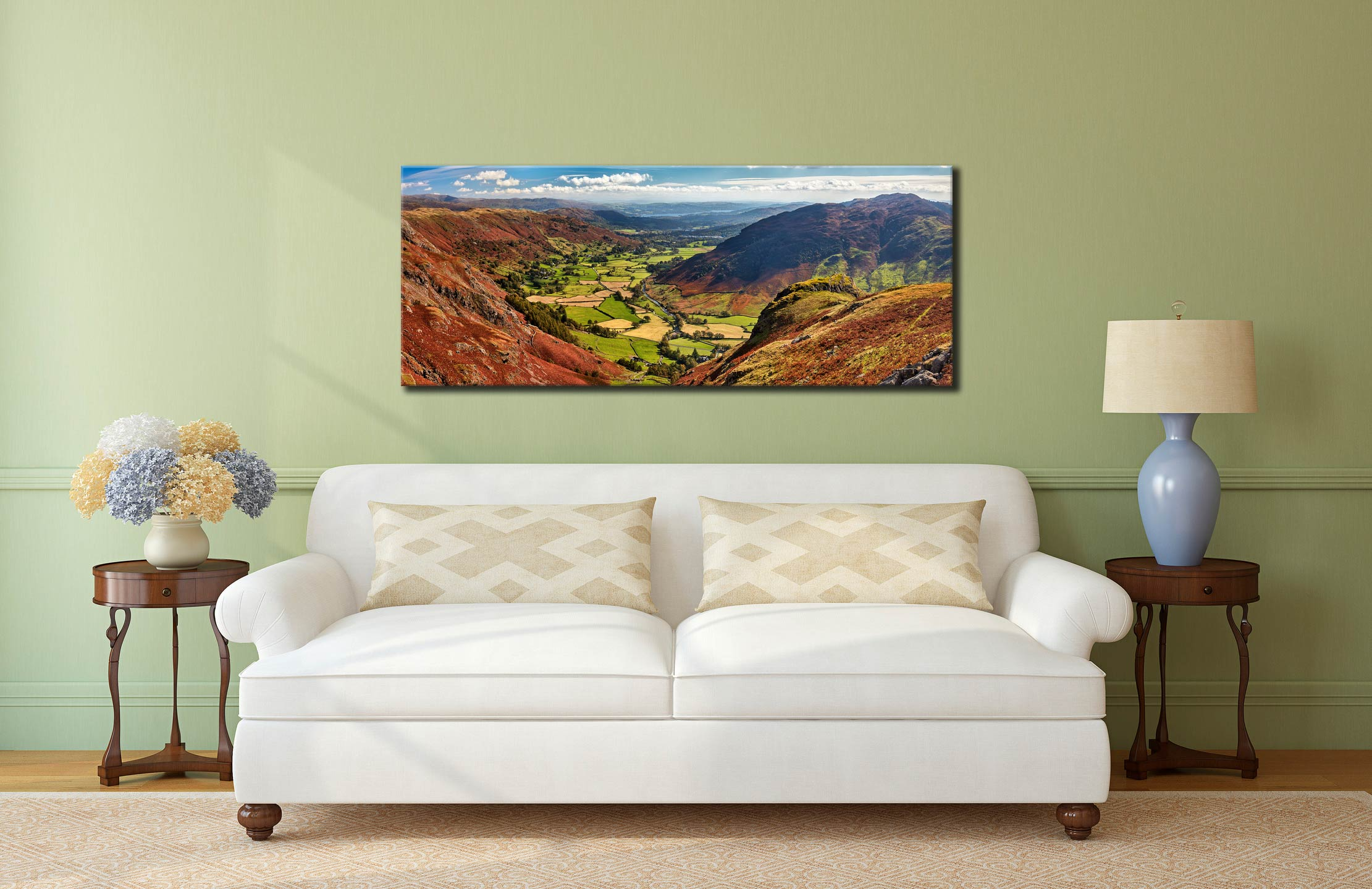 The Great Langdale Valley - Canvas Print on Wall