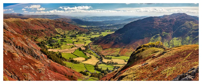 The Great Langdale Valley - Lake District Print
