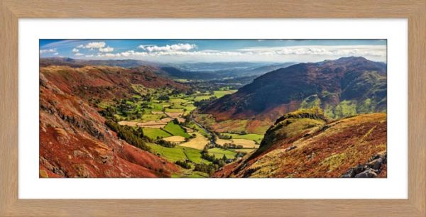 The Great Langdale Valley - Framed Print with Mount