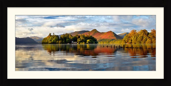 Derwent Isle and Cat Bells - Framed Print with Mount
