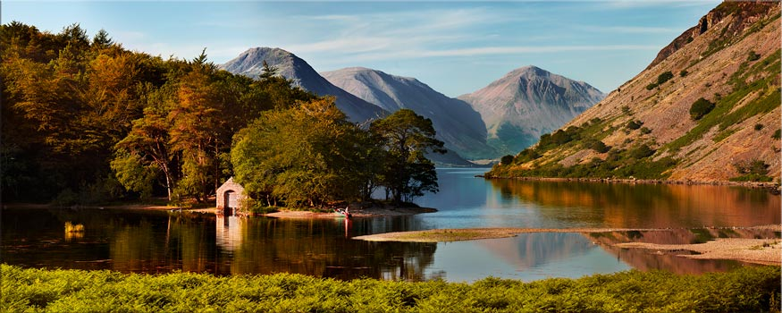 Wast Water Boathouse - Canvas Print