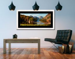 Wast Water Boathouse - Framed Print with Mount on Wall