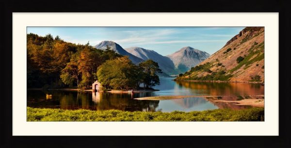 Wast Water Boathouse - Framed Print with Mount
