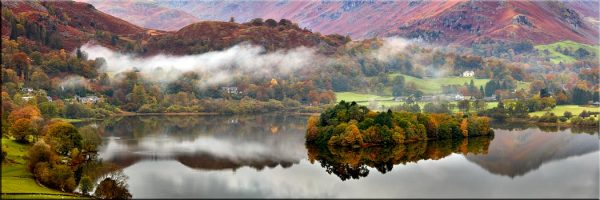 Grasmere Autumn Mists - Canvas Print