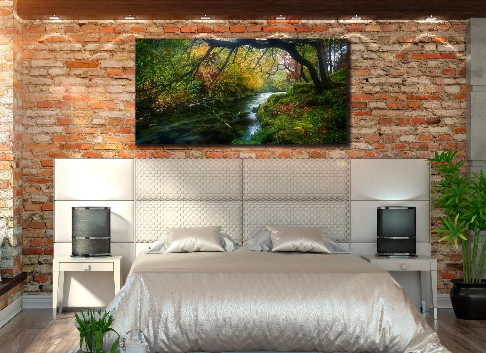River Derwent in Autumn - Lake District Canvas on Wall