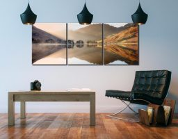 Bright Light on Buttermere - 3 Panel Canvas on Wall