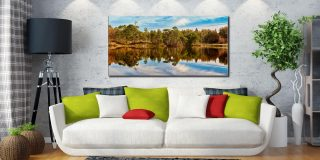 Tarn Hows Autumn Reflections - Lake District Canvas on Wall