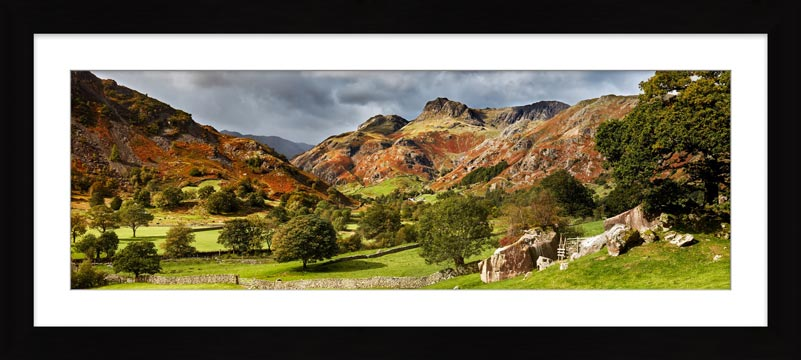 Summer Greens of Langdale - Framed Print with Mount