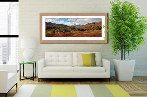 Elterwater Common - Framed Print with Mount on Wall
