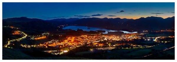 Keswick at Night - Prints of Lake District