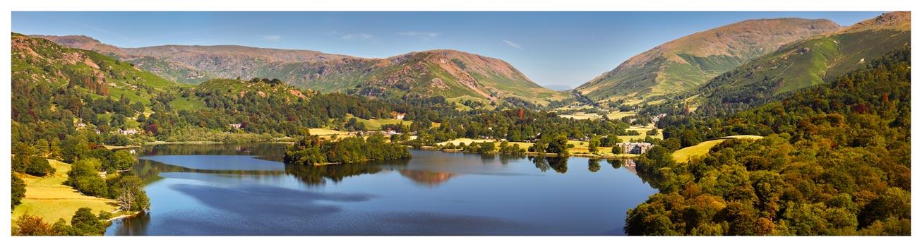 Grasmere Summer Panorama - Lake District Print