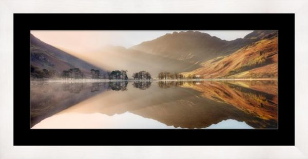 Bright Lights on Buttermere - Framed Print with Mount