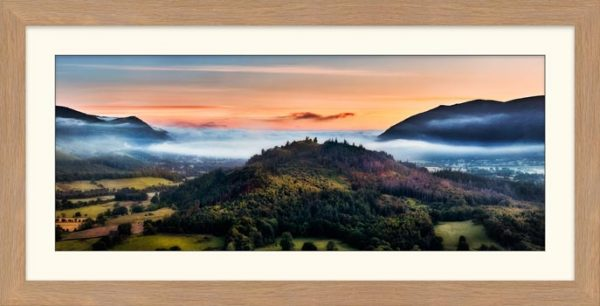 Dawn Mists Over Bassenthwaite Lake - Framed Print with Mount