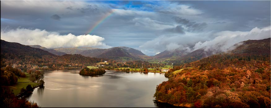 Clouds Mist Rainbow Grasmere - Canvas Print