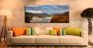Clouds Mist Rainbow Grasmere - Canvas Print on Wall