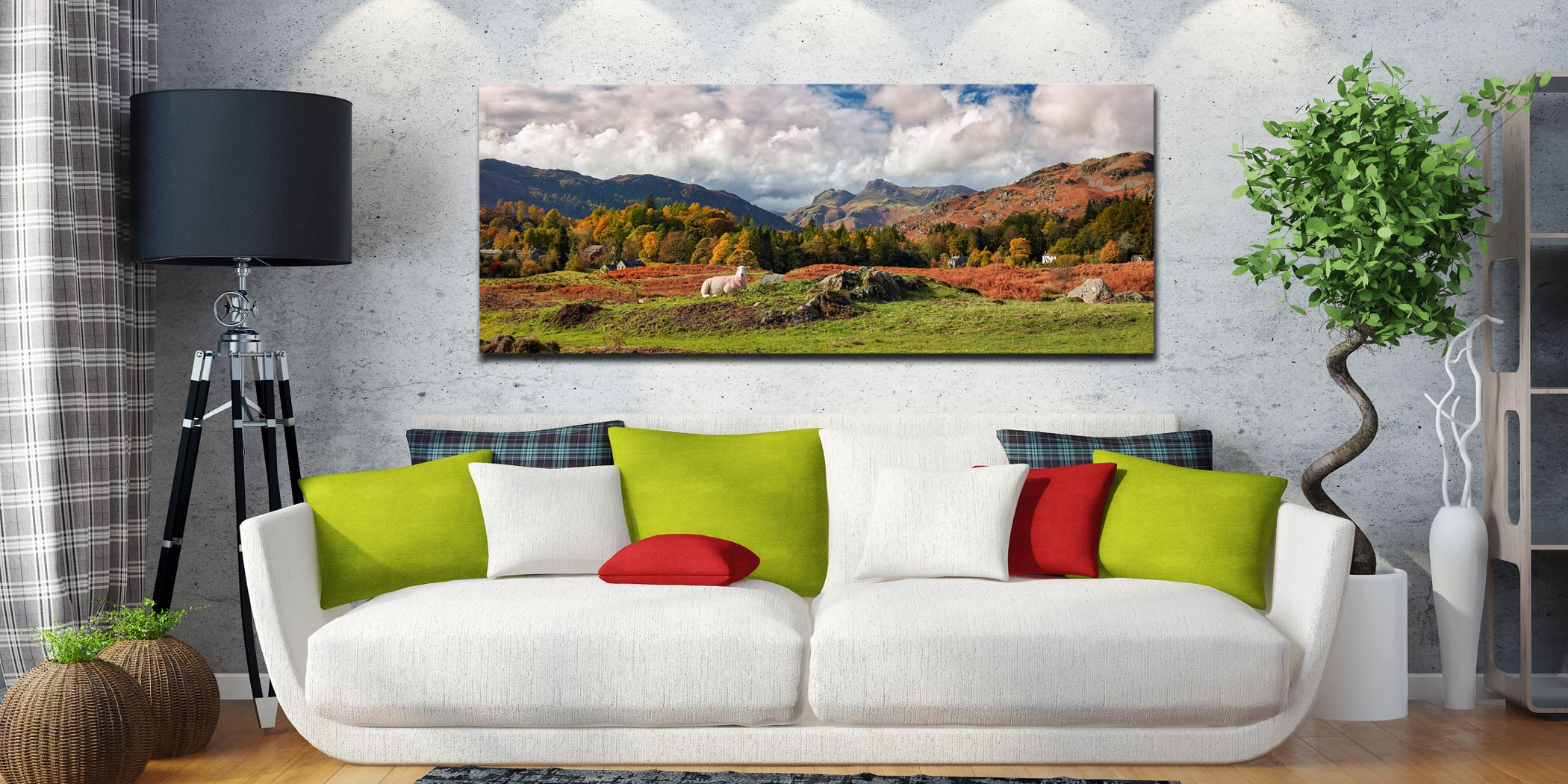 Sheep on Elterwater Common - Canvas Print on Wall