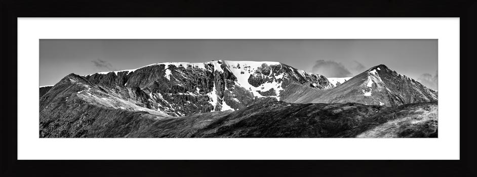 Helvellynn Snow Capped - Framed Print with Mount